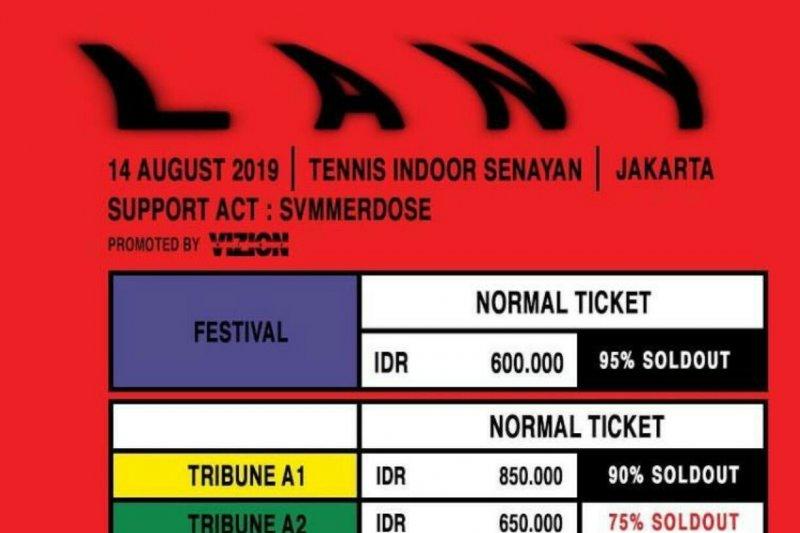 The Vamps dan konser  LANY  di Jakarta, Hari ini
