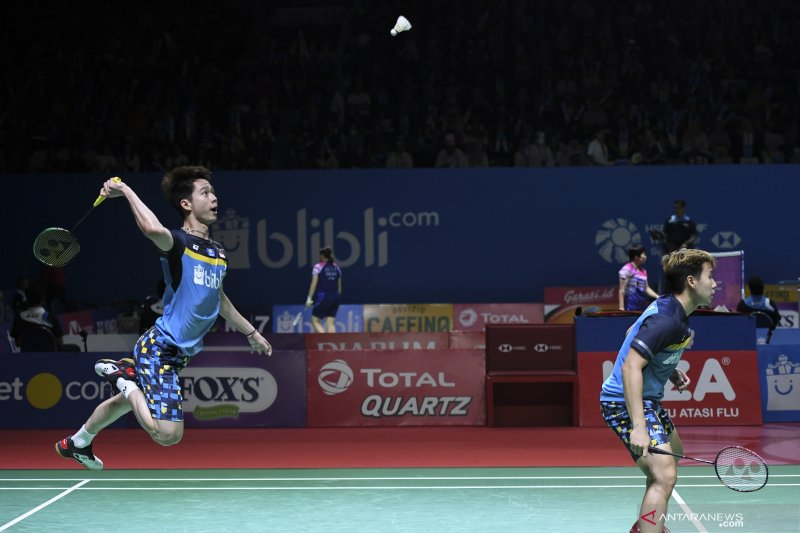Kevin/Marcus tantang unggulan ketiga China di semifinal Indonesia Open 2019