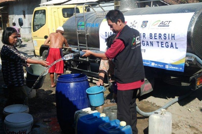 Tegal kekeringan, ACT bantu belasan ribu liter air bersih