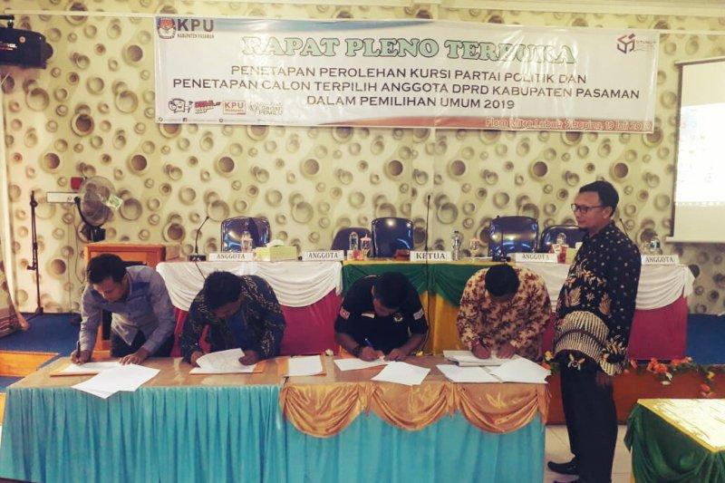 Ditetapkan KPU, Gerindra dan PKS berjaya, wajah baru hiasi DPRD Pasaman