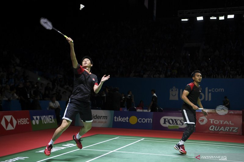 Hendra/Ahsan kantongi tiket ke final Indonesia Open 2019