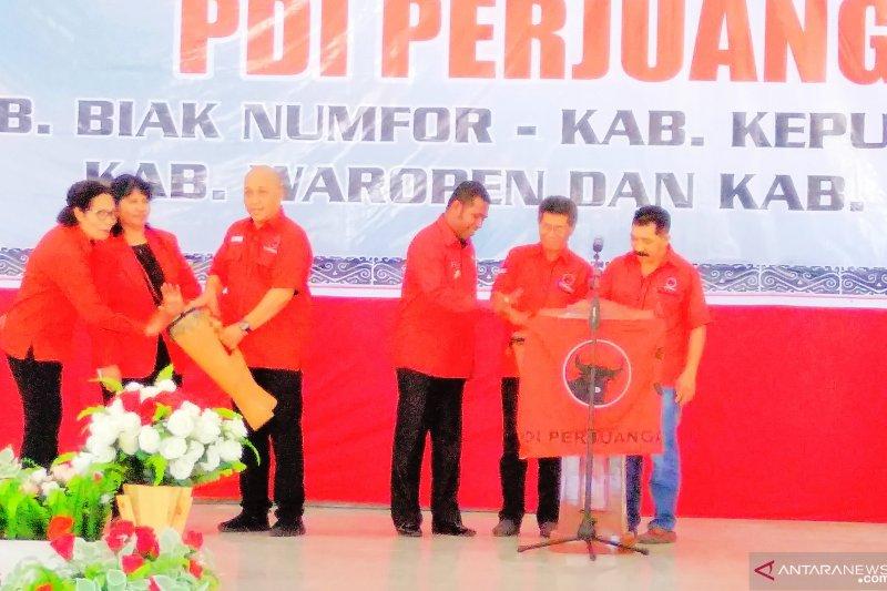 Konfercab PDIP serentak empat kabupaten berlangsung di Biak
