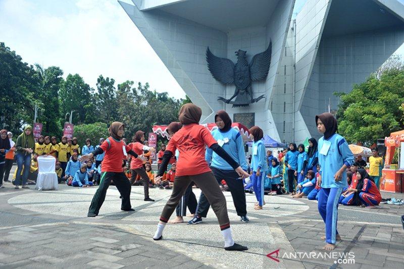 Belasan Permainan tradisional digelar di Festival Permainan anak
