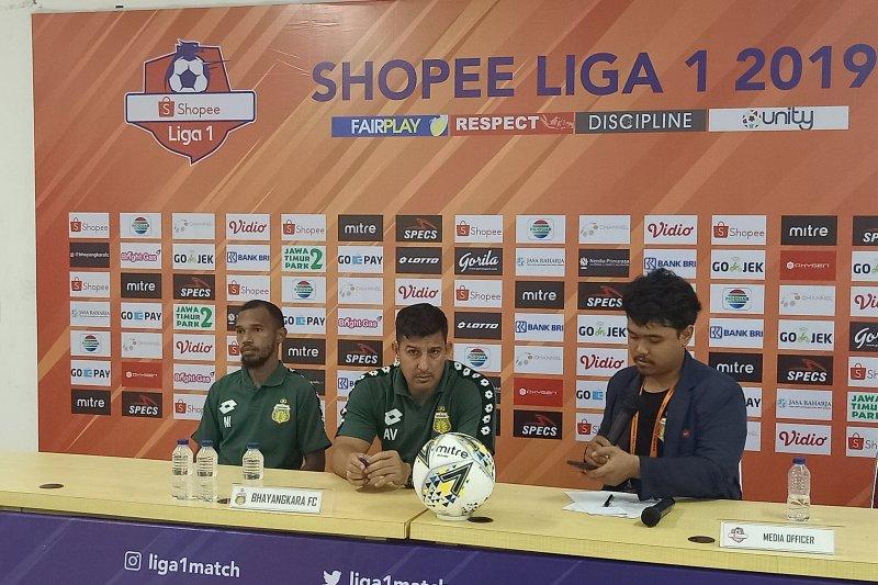 Pelatih: Bhayangkara kalah karena terbebani raih kemenangan