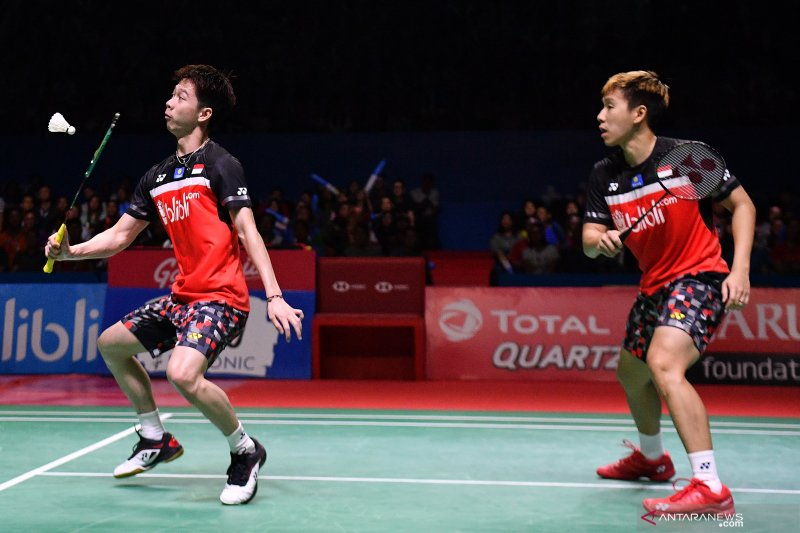 Kevin/Marcus takluk dari peringkat lima di Thailand Open