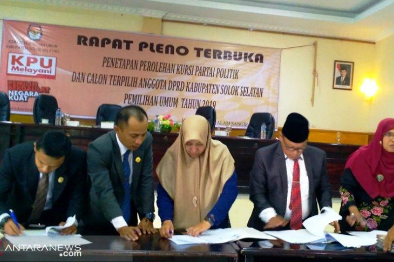 Calon terpilih anggota DPRD Solok Selatan tanpa keterwakilan perempuan