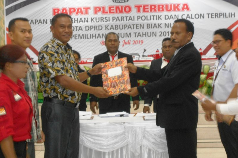 Pelantikan anggota DPRD Biak Numfor dijadwalkan 23 Oktober
