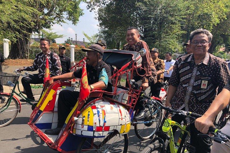 sepeda hingga becak listrik akan warnai Malioboro