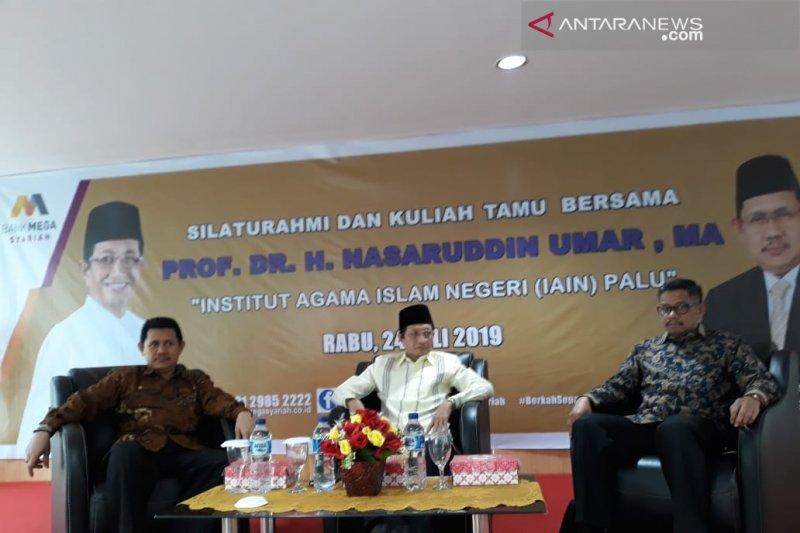 Profesor Nasaruddin Umar pembicara utama kuliah tamu di IAIN Palu
