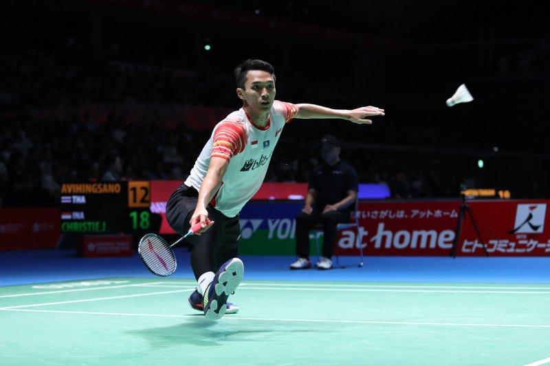 Jonatan Christie  melenggang ke babak dua Japan Open 2019