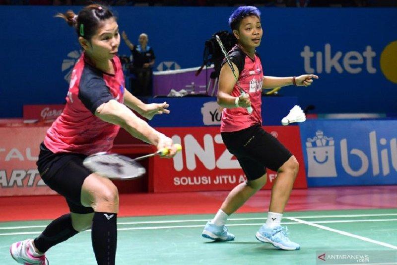 Greysia/Apriyani tumbang di delapan besar Thailand Open