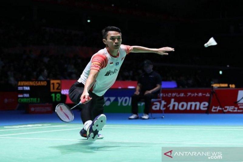 Jonatan Christie tantang Momota di final tunggal putra Japan Open