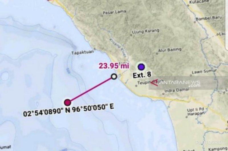 SAR hentikan pencarian penumpang lompat ke laut di Aceh Barat