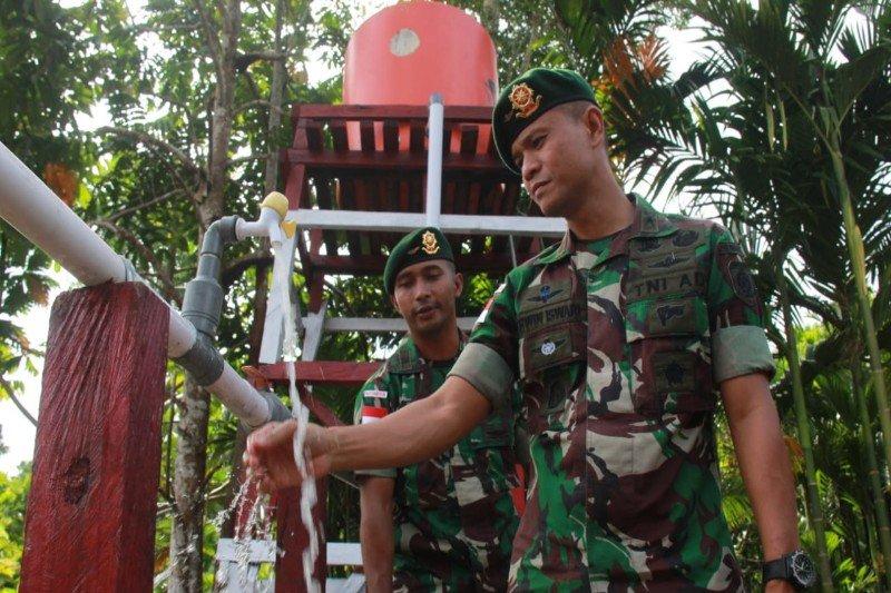Yonif 328/DGH bantu atasi kesulitan air bersih di Yetti