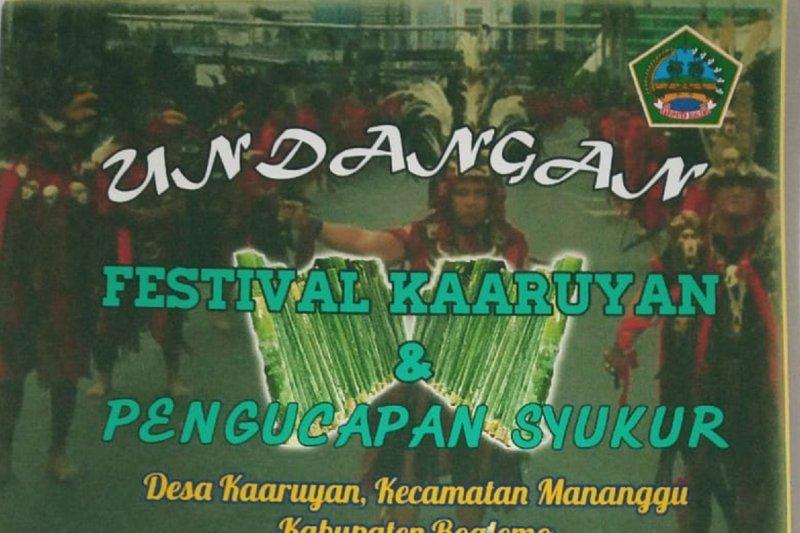 Pemprov Gorontalo dukung Festival Kaaruyan menjadi agenda tahunan