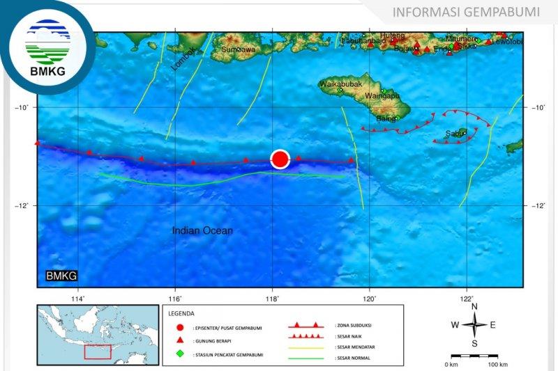 Sumba Barat Daya diguncang gempa 4,4 SR