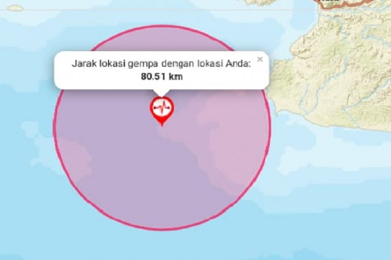 Gempa Banten dirasakan hingga Sukabumi