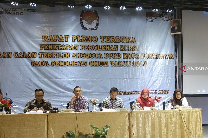 KPU Pontianak tetapkan Caleg terpilih Pemilu 2019