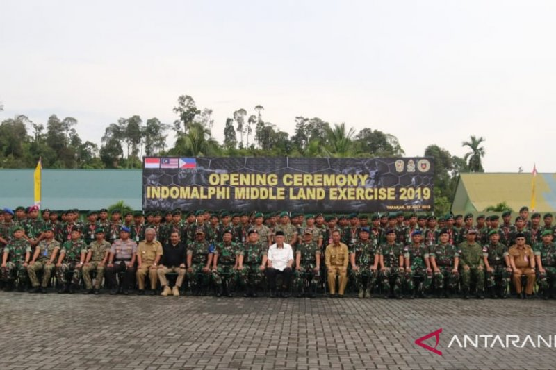 Tentara Indonesia, Malaysia, Philipina gelar latihan bersama