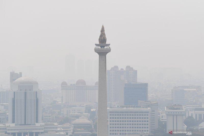 Kualitas udara Jakarta pada Rabu pagi masuk kategori kurang sehat