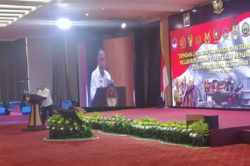 Menhan Ryamizard Ryacudu ingatkan TNI agar tidak berambisi pada kekuasaan