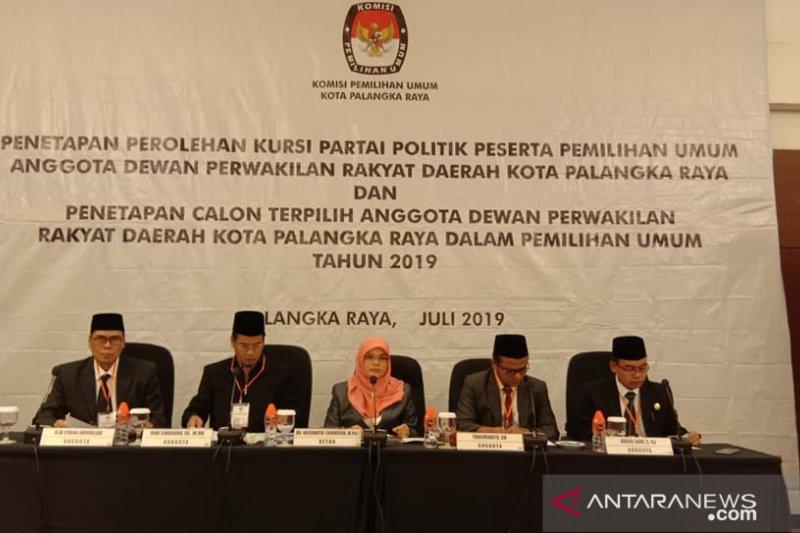 KPU Palangka Raya tetapkan 30 caleg terpilih