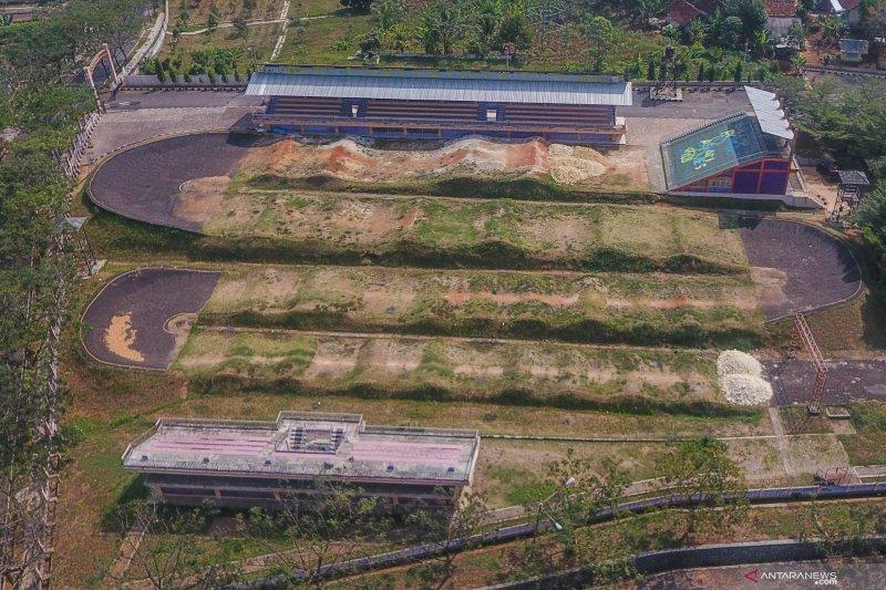 Sirkuit BMX bekas venue PON terbengkalai dan tidak terawat