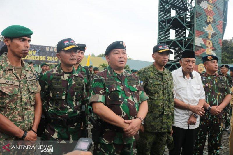 TNI AD latihan bareng tentara Malaysia dan Filipina