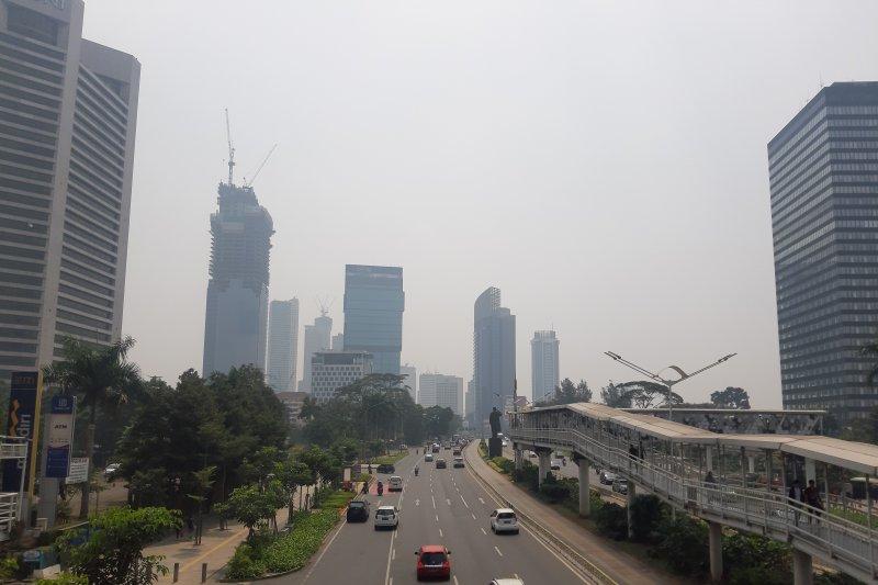 Kualitas udara Jakarta Rabu pagi masih kategori tidak sehat