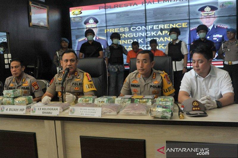 Polresta tangkap Peredaran 13 kg Sabu