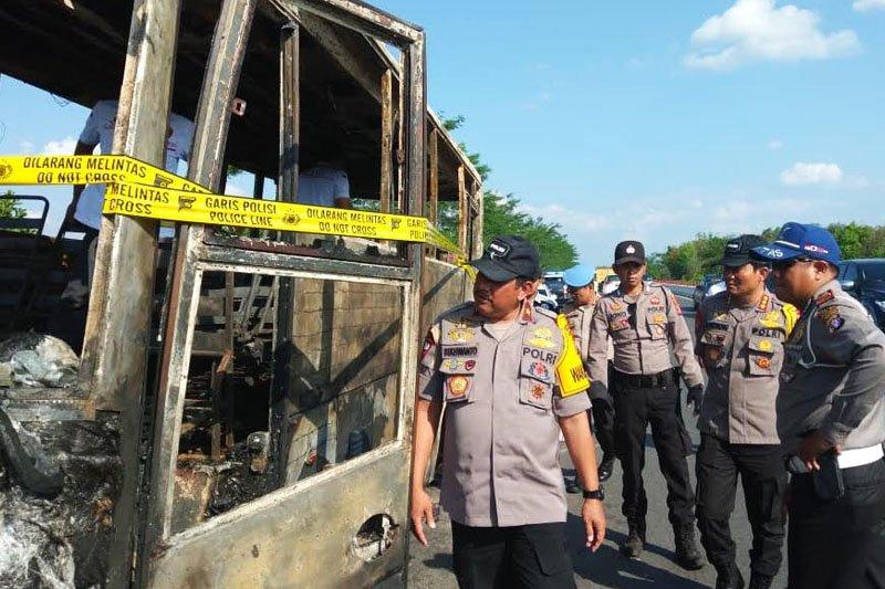 Ini penyebab terbakarnya bus Polres Kapuas di Jembatan Tumbang Nusa