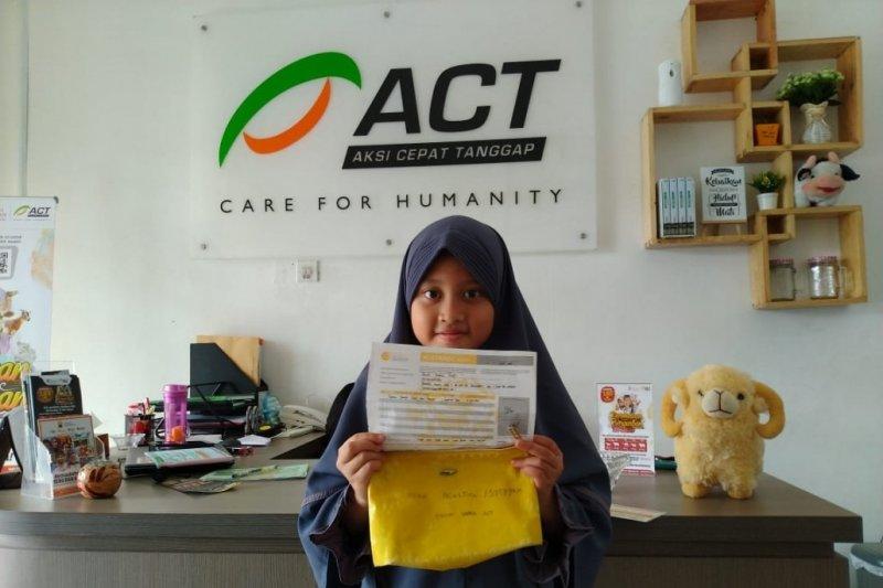 Kisah Gania Yumna, Bocah delapan tahun donasikan tabungannya untuk Palestina