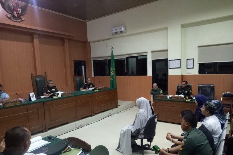 Drama air mata warnai sidang oknum TNI terdakwa mutilasi