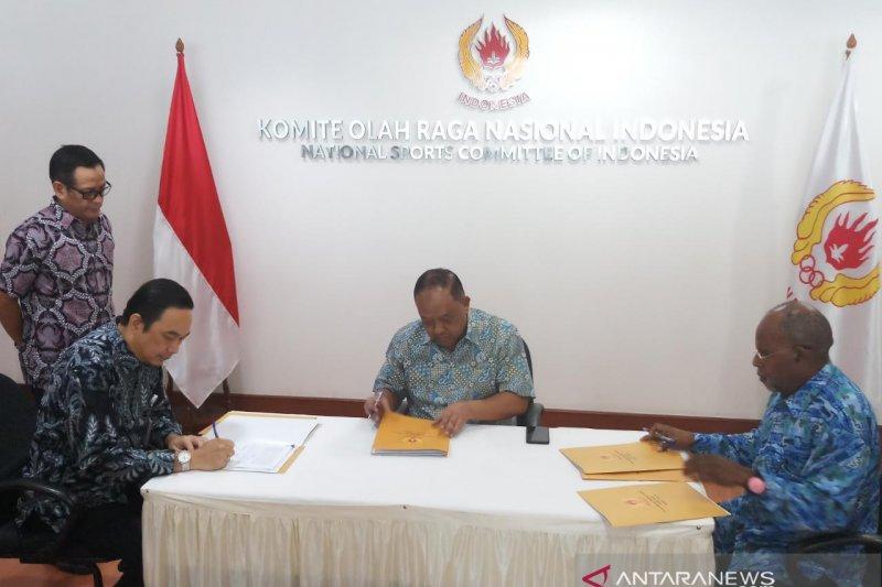 KONI-PB PON-LPDUK kerjasama kelola dana komersial PON Papua