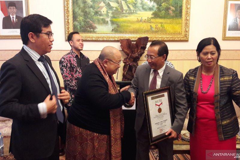 Dubes RI di Rusia dapat penghargaan MURI terkait pelaksanaan Festival Indonesia di Moskow