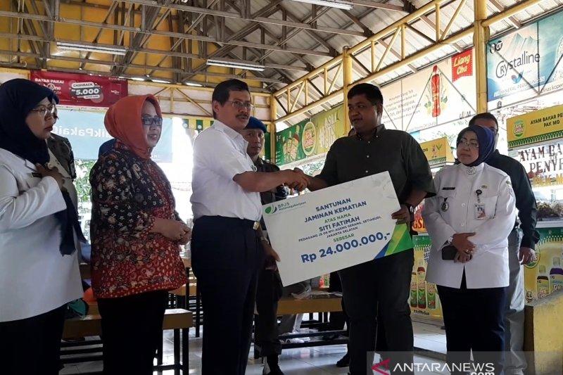 Peserta meninggal di Setiabudi menerima santunan BPJS Ketenagakerjaan