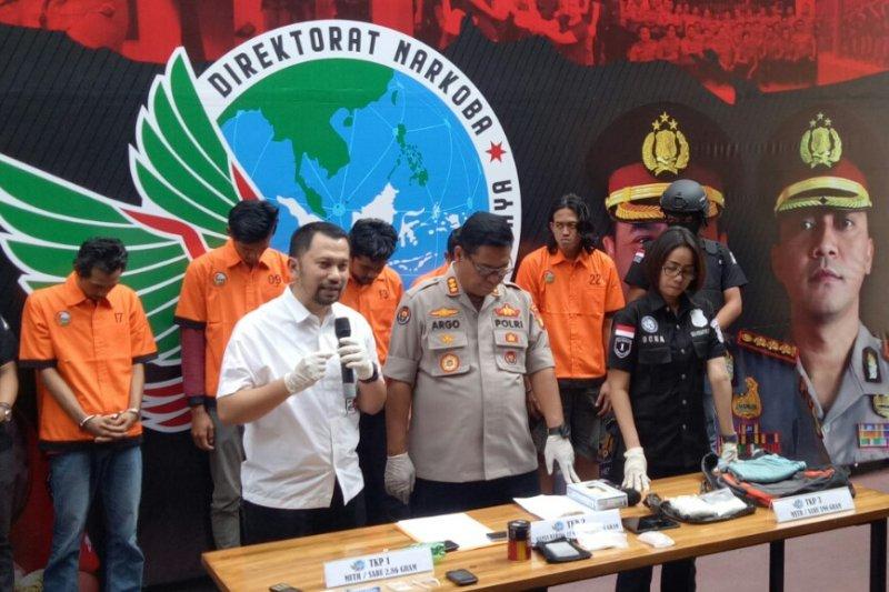 Lima pemasok sabu-sabu ke Nunung ditangkap polisi
