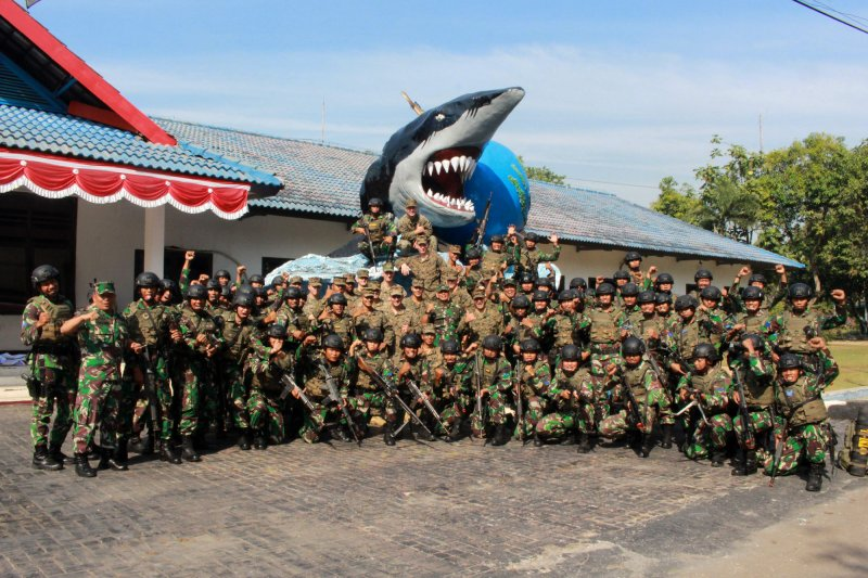Marinir Indonesia-Amerika latihan bersama di Sidoarjo