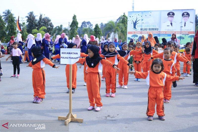 Ratusan anak PAUD senam Gemari saat peringati Hari Anak