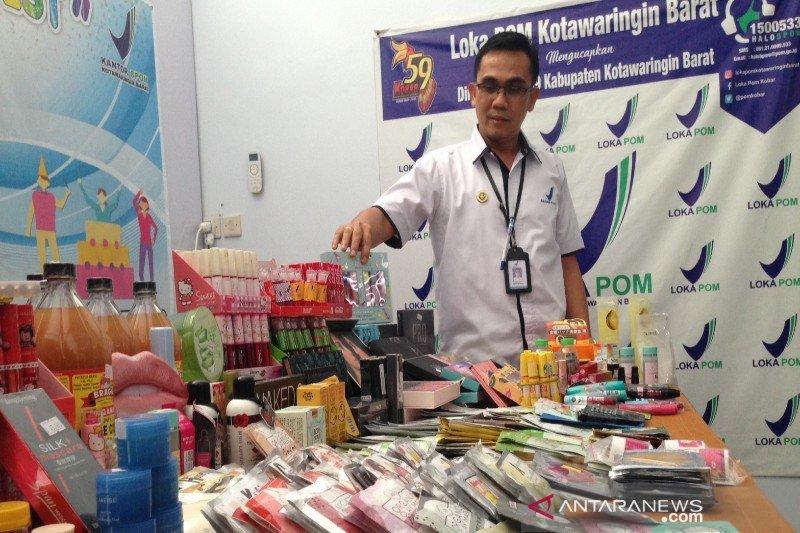 Loka POM Kobar sita kosmetik ilegal senilai Rp72 juta