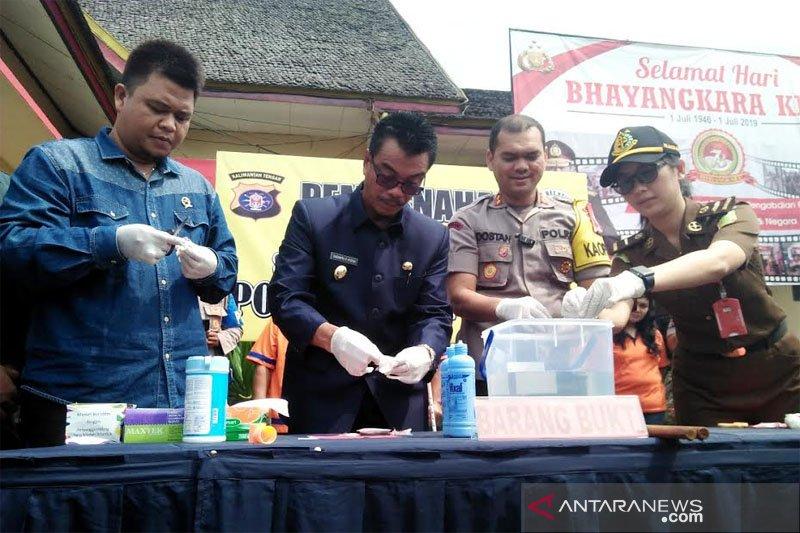 Polres Barito Utara musnahkan barang bukti sabu-sabu 5,70 gram