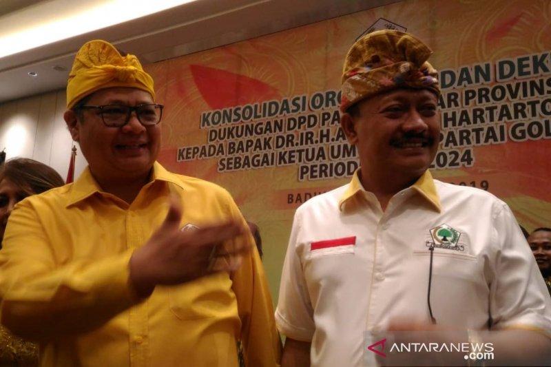 Golkar Bali sepakat dukung Airlangga pimpin Golkar