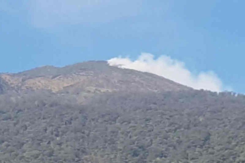 Pemadaman kebakaran puncak Gunung Ciremai terkendala medan