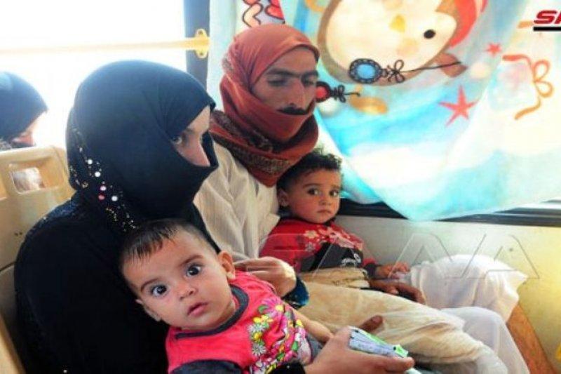 Puluhan keluarga Suriah akhirnya bisa pulang ke daerah asalnya