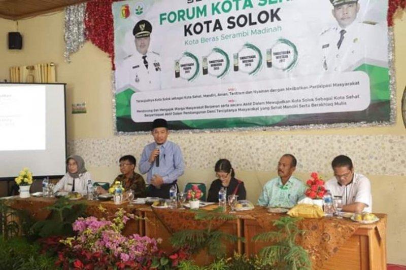 Kota Solok dinilai tim verifikasi Kota Sehat pusat