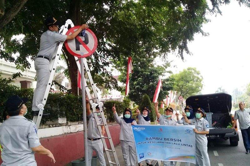 """Jasa Raharja Riau giatkan """"Rambu Bersih"""" untuk keselamatan lalulintas"""