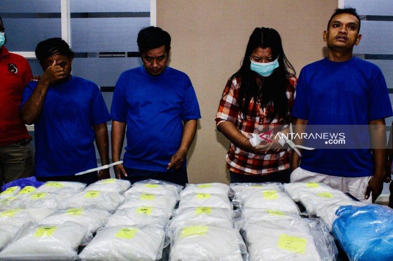 BNNP Jatim bongkar peredaran 25 kilogram sabu-sabu asal Malaysia