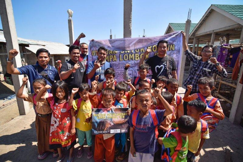 GFJA dan PFI berikan bantuan korban gempa Lombok