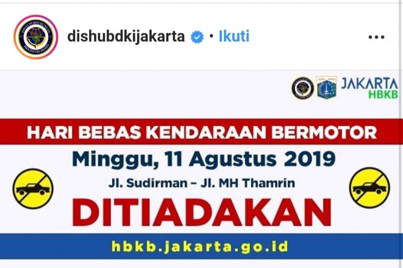 CFD Sudirman-Thamrin ditiadakan pekan ini
