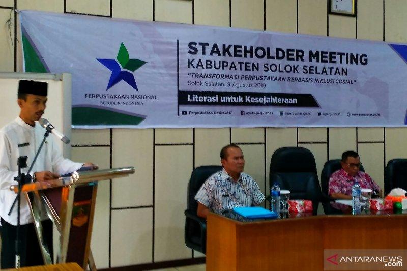 Di Solok Selatan, perpustakaan berbasis inklusi sosial diperluas ke nagari, ini lima nagari percontohan